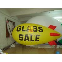 Best Attractive Yellow Inflatable Advertising Helium Zeppelin with Two Sides Digital Printing wholesale