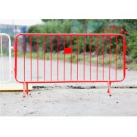 Best Highway outdoor traffic temporary crowd control barrier fence 1.3*2.5m steel material wholesale