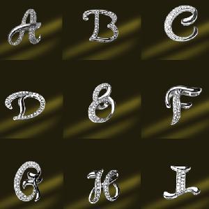 Best 925 Sterling Silver Script Initial Letters Charm Pendant (PSL3341) wholesale