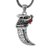 Best Retro Sterling Silver Necklace with Dragon Pendant for Mens Jewelry(XH051823W) wholesale