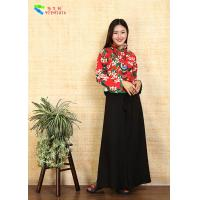 Best Comfortable Chinese Cheongsam Blouse Cotton Linen Long Sleeve Tang Suit wholesale