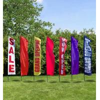 Cheap Rectangle Full Color Decorative Beach Flags Hot Transfer Printing for sale
