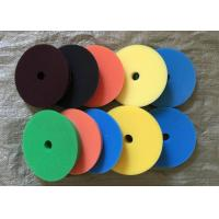 Best 180mm Hook Loop Polishing Pad , Sheepskin Buffing Pads For Glass Products wholesale