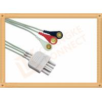 Best White 3 Leads Nihon Kohden Ecg Cable ECG Lead Wires Cable 0.8M wholesale