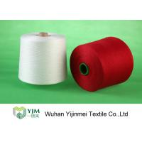 Best Bright Red / White 100 Polyester Yarn Sewing Thread , Polyester Core Spun Yarn Knotless wholesale
