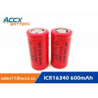 Best 16340HP 600mAh 16340 3.7V li-ion battery 10-20C high rate power battery for electric toys, eircraft, wholesale