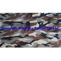 Best Polyester Oxford Paper PU Breathable Coated Fabric Camo Print Leisure Military Uniform 300D 150GSM wholesale