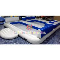 Best Ocean Inflatable Water Toys / Floating Island Raft Lounge For Family wholesale