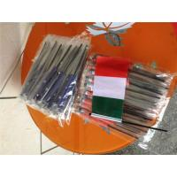 Cheap Digital Printing Knitted Custom Hand Waving Flags With Plastic Poles for sale