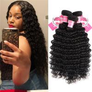 Best Deep Wave Peruvian Human Hair Bundles 3 Pieces Virgin Remy Hair Weave wholesale