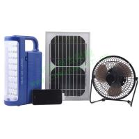 Best High Quality Solar Power Mini Fan with LED Light wholesale