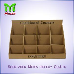 Best Kraft Paper Counter Top Display Stands For Albums , Cardboard Advertising Displays wholesale
