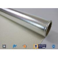 Cheap Wateproof And Fireproof Aluminum Foil Coated Fiberglass Fabric for sale