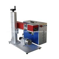 Cheap Mini Type Fiber Laser Marking Machine for Logo Marking for sale