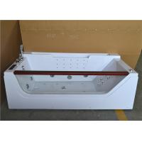 Best Double Ended Jacuzzi Whirlpool Bath Tub With Water Heater Left Center Drain wholesale