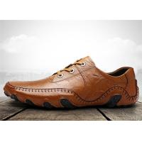 Best Brown Mens Lace Up Loafers , Mens Slip On Driving Shoes Octopus Adhesive Disc Shape wholesale
