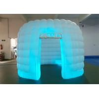 Best Portable 1 Door White Inflatable Photo Booth / Trade Show Booth For Event wholesale