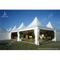 Best Weather and Fire Resistant Array Pagoda Fabric White Luxury Outdoor Canopy High Peak Aluminum Tent wholesale