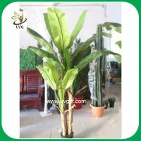 Details of uvg plt01 plastic banana leaves artificial for Artificial banana leaves decoration