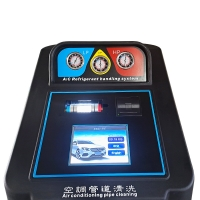 Best 5.4m3/H Vacuum Ability Car Refrigerant Recovery Machine 15kg Cylinder Capacity wholesale