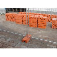 Cheap Temp Construction Fence Panels Q195 Iron Wire Materials With Orange Plastic Feet for sale