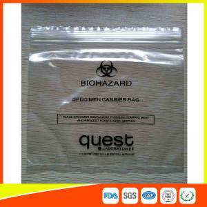 Best Industrial Reclosable Plastic Specimen Bags , Packaging Zip Lock Bags FDA Approved wholesale