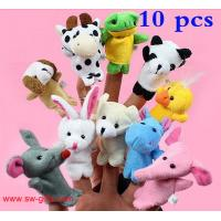 China Cartoon Biological Animal Finger Puppet Plush Toys Child Baby Favor Dolls Christmas Gifts on sale