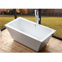 Best Residential Luxury Freestanding Bathtubs , Pedestal Soaking Tubs For Small Bathrooms wholesale