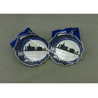 Best Customized Silver Hard Enamel Medal With Zinc Alloy , Die Struck Medal For Running Sport wholesale