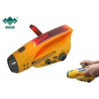 Best Small Hand Powered Rechargeable Flashlight Radio With Emergency Cellphone Charger wholesale