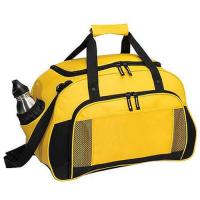 Buy cheap Yellow Canvas Leather Travel Luggage BagsWith Two Seperate Pocket from wholesalers