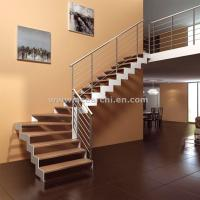 Cheap Modern Design Zig Zag Staircase Beam Double Stringer Straight Staircase for sale