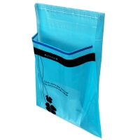 Best 0.015mm Thickness Plastic Vehicle Trash Bag With Self Adhesive Sticker wholesale