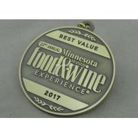 Best Wine Die Cast Medals , 3D Zinc Alloy Awards Medals Antique Bronze Color wholesale