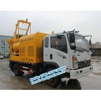 Cheap Q345 agitating vane yellow color Sinotruck CDW 4X2 25m3/hour multifunction for sale