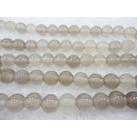 Best Self-designed Handmade Jewellery Semi Precious Gem Stone Beads Natural Grey Agate Bead wholesale