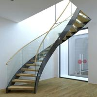 Best Best Selling Stainless Steel Modular Round Curved Stairs with Customized Service wholesale