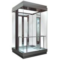 Best MRL Square Glass Observation Elevator Center Opening Type With Fuji Control System wholesale