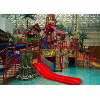 Best Adults Aqua Water Playground Equipment , Big Water House Maya Style Theme Park Slide wholesale
