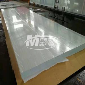 Best 100% Virgin Lucite Thick 12700x2450mm Aquarium Acrylic Sheet Transparent Cast wholesale