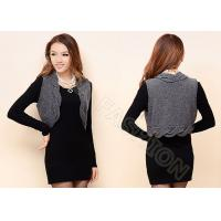 China Womens Cable Knit Sweaters Sleeveless Grey Short Cardigan Vest Knitwear on sale