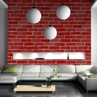 Best Eco-friendly fireproof cheap price brick/stone style PVC vinyl wall paper wholesale