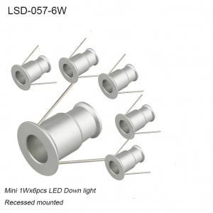 Best 1Wx9pcs Mini 25mm aluminum recessed interior LED downlight for showroom /Hotel decoration wholesale