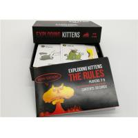 Best Black Color Exploding Kittens Expansion Deck , Exploding Kittens For Adults wholesale