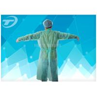 Cheap Medical Lab Breathable Disposable Scrub Suits Non woven With Shirt Collar Knitted Cuff for sale