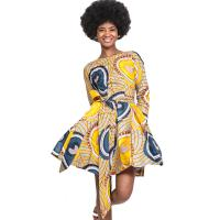 Best Women Full  Lace-Up African Print Skirts , 100% Pure Cotton Dress Wax Printing wholesale
