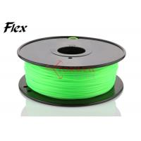 Best Bright green Flexible 3D Printing Filament 3mm , rubber filament for Leapfrog wholesale