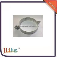 Quality White Painting Down Pipe Clamps Galvanised Tube Clamps With Riveted Fixed Nut M8 wholesale