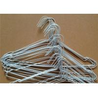 Best White Coated 2.0mm Metal Clothes Hangers Dry Cleaners Use One-Time In Laundry wholesale