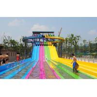 Best Adult Water Park Equipment / Outdoor Playground Water Slide Customized Size wholesale